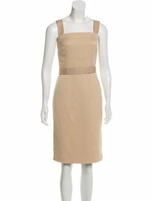 Dolce & Gabbana Sleeveless Knee-Length Dress Beige