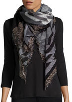 Steve Madden Abstract Print Scarf