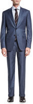 Isaia Gregory Pinstripe Two-Piece Suit, Light Blue