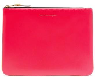 Comme des Garcons Colour-block Leather Pouch - Pink Multi