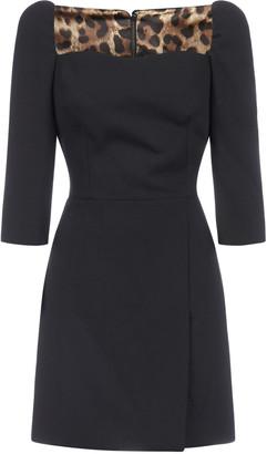 Dolce & Gabbana Virgin Wool Crepe Mini Dress