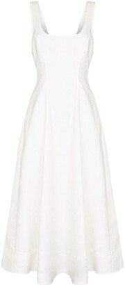 Zimmermann Cut-Out Back Midi Dress