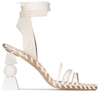 Jacquemus Valerie 105mm wrap-tie sandals