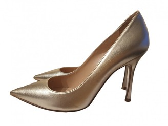 Christian Dior D-Stiletto Gold Patent leather Heels