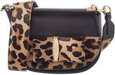Salvatore Ferragamo Anna Vara Lux Leopard Haircalf & Leather Shoulder Bag