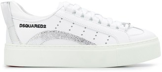 DSQUARED2 Metallic Detail Lace-Up Trainers