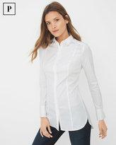 White House Black Market Petite Long Poplin Shirt
