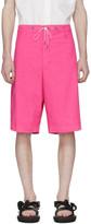 Fumito Ganryu Pink Silk Broadcloth Shorts