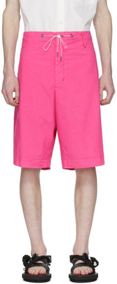 Fumito Ganryu Pink Silk Broadcloth Shorts