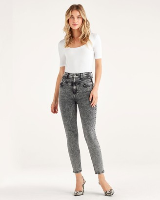 7 For All Mankind Retro Corset Jean in Stowe