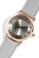 LuLu*s Time of the Season Rose Gold and Grey Watch