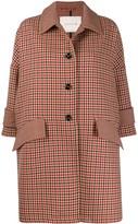 MACKINTOSH HUMBIE Shepherd Check Virgin Wool Cropped Sleeve Overcoat | LM-1007