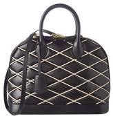 Louis Vuitton Black Malletage Leather Alma Pm.
