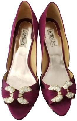Badgley Mischka Purple Cloth Heels
