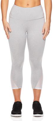 Head Women's Leggings GREY - Heather Gray Mesh-Accent High-Waist Partner Capri Leggings - Women