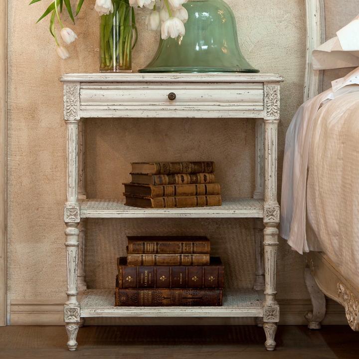 Eloquence Napoleon Nightstand - Antique White
