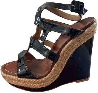 Christian Louboutin Black Patent leather Espadrilles