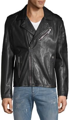 Karl Lagerfeld Paris Leather Moto Jacket