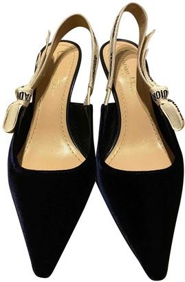 Christian Dior J'adior Blue Velvet Heels
