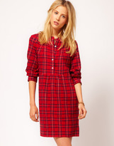 People Tree Brushed Cotton Check Tunic Dress