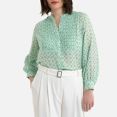 La Redoute Collections Plus Mandarin-Collar Blouse with Long Sleeves