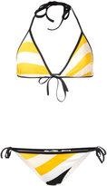 Fendi wave print bikini set - women - Polyamide/Spandex/Elastane - 38