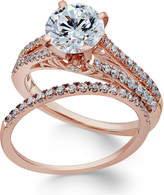 Macy's Certifiied Diamond Bridal Set (2 ct. t.w.) in 18k Rose Gold