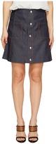 McQ by Alexander McQueen Denim Detail Pockets Skirt