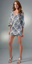 Mara Hoffman Button Front Deep V Dress