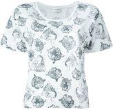 Saint Laurent tiger head print T-shirt