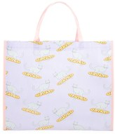 Forever 21 Pizza and Cat Print Tote Bag