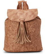 Deux Lux Honey Madison Distressed Woven Backpack