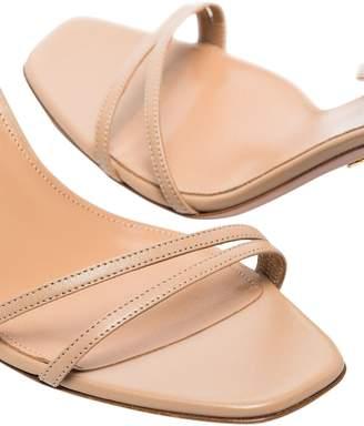 Aquazzura isa wrap-around sandal nude