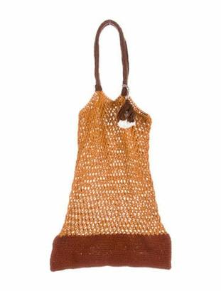 M.PATMOS Knit Colorblock Bag w/ Tags Orange Knit Colorblock Bag w/ Tags