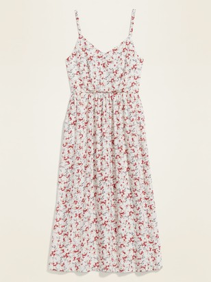 Old Navy Floral-Print Fit & Flare Cami Midi Dress for Women
