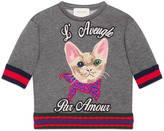 Gucci Children's cotton sweatshirt with cat