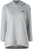 Chiara Ferragni Winking Eye hooded sweatshirt - women - Cotton/Polyester/Spandex/Elastane - XS