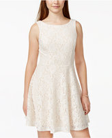Speechless Juniors' Lace Fit & Flare Tank Dress, Only at Macy's