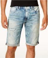 GUESS Men's Deconstructed Denim Shorts