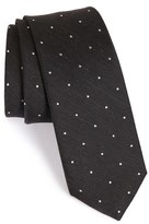 The Tie Bar Men's Dot Silk & Linen Tie