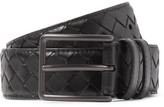 Bottega Veneta 3cm Black Intrecciato Leather Belt