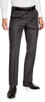Ermenegildo Zegna Men's Achillfarm Wool/Silk Twill Trousers