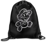 HITKF Super Mario Video Platinum Style Drawstring Backpack Bag