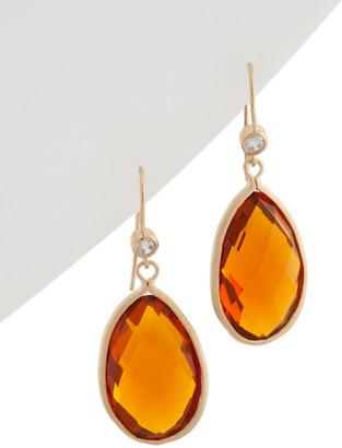 Rivka Friedman 18K Clad Crystal & Cz Drop Earrings