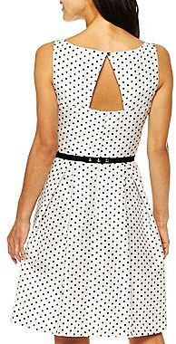JCPenney Lace Flounced Dress