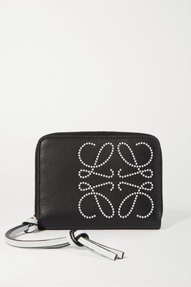 Loewe Printed Textured-leather Wallet - Black