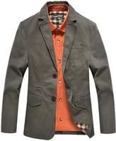 Yeokou Men's Lightweight Cotton Slim Fit Casual Suit Jacket Blazers Sport Coats