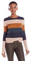 Pam & Gela Women's Multi Color Stripe Sweater