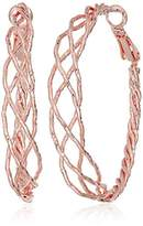 GUESS Braided Rose Gold Hoop Earrings