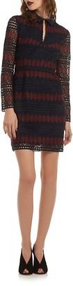 Trina Turk Rodin Lace Keyhole Mini Dress